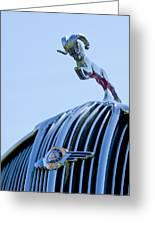 1936 Dodge Hood Ornament 2 Greeting Card