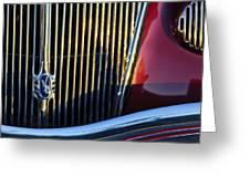 1936 Ford Phaeton V8 Grille Emblem Greeting Card