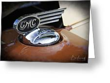 1936 Gmc Pickup Truck Hood Ornament Greeting Card