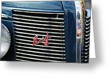 1937 Buick Grille Emblem Greeting Card
