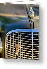 1937 Cadillac Hood Ornament And Grille Greeting Card