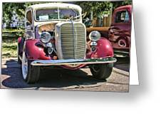 1937 Ford Greeting Card