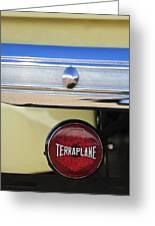 1937 Hudson Terraplane Pickup Truck Taillight Greeting Card