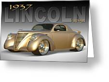 1937 Lincoln Zephyr Greeting Card