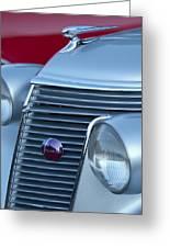 1937 Studebaker Grille Greeting Card