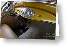 1938 Ford Roadster Dashboard Greeting Card