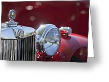 1938 Mg Ta Hood Ornament Greeting Card