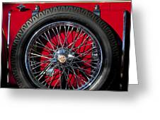 1938 Mg Ta Spare Tire Greeting Card