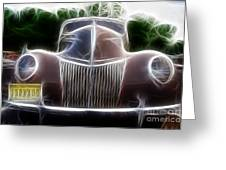 1939 Ford Deluxe Greeting Card