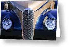 1940 Cadillac Lasalle Convertible Grille Greeting Card