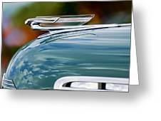 1940 Chevrolet Hood Ornament 2 Greeting Card