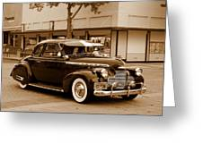 1940 Chevrolet Special Deluxe - Sepia Greeting Card
