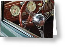 1940 Chevrolet Steering Wheel Greeting Card