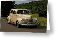 1940 Ford Deluxe Sedan Hot Rod Greeting Card