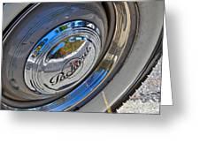 1940 Packard Hubcap Greeting Card