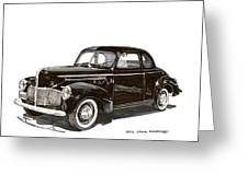 Studebaker Business Coupe Greeting Card