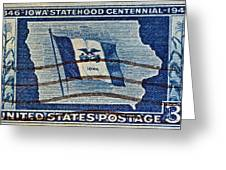 1946 Iowa Statehood Stamp Greeting Card