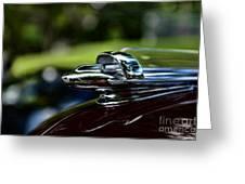 1947 Chevrolet Hood Ornament Greeting Card