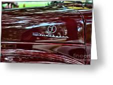 1947 Studebaker Name Plate Greeting Card