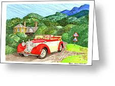 1948 Alvis English Countryside Greeting Card
