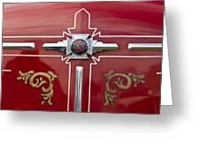 1948 American Lefrance Fire Truck Emblem Greeting Card