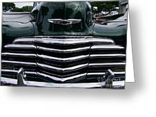 1948 Chevy Coupe Grille Greeting Card