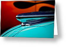 1948 Chevy Hood Ornament Greeting Card