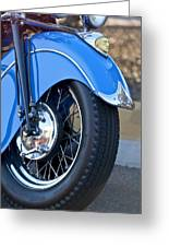 1948 Indian Chief Motorcycle Wheel Greeting Card