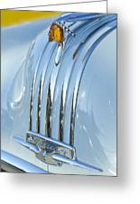 1948 Pontiac Hood Ornament 3 Greeting Card