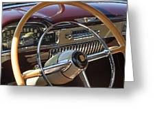 1949 Cadillac Sedanette Steering Wheel Greeting Card