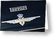 1950 Ferrari Carrozz Touring Milano Emblem Greeting Card