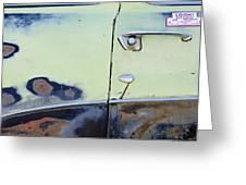 1950 Ford Crestliner Door Handle Greeting Card