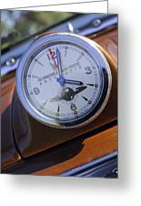 1950 Oldsmobile 88 Dashboard Clock Greeting Card