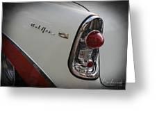 1950s Chevrolet Belair Chevy Antique Vintage Car 2 Greeting Card