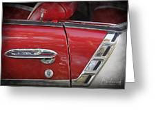 1950s Chevrolet Belair Chevy Antique Vintage Car 3 Greeting Card