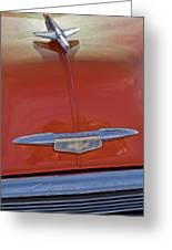 1951 Chevrolet Sedan Delivery Hood Ornament Greeting Card