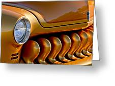 1951 Mercury Grille Greeting Card