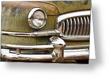 1951 Nash Ambassador Front End Closeup Greeting Card