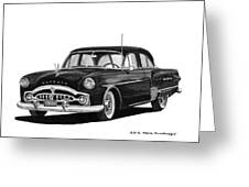 1951 Packard Patrician 400 Greeting Card