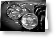 1952 Jaguar Headlights Greeting Card