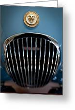 1952 Jaguar Hood Ornament And Grille Greeting Card
