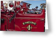 1952 L Model Mack Pumper Fire Truck 2 Greeting Card