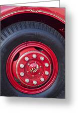 1952 L Model Mack Pumper Fire Truck Wheel 2 Greeting Card