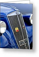 1952 Lancia Ardea 4th Series Berlina Grille Emblems Greeting Card