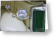 1952 Mg Roadster Headlamp Greeting Card