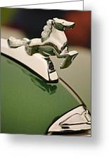 1952 Sterling Gladwin Maverick Sportster Hood Ornament Greeting Card