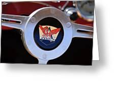 1953 Arnolt Mg Steering Wheel Emblem Greeting Card