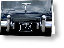 1953 Bentley Rear View License Plate Greeting Card