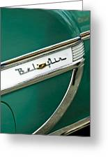 1953 Chevrolet Belair Side Emblem Greeting Card