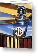 1953 Mg Td Hood Ornament Greeting Card
